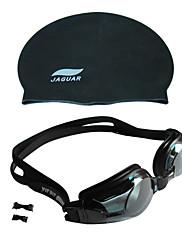 jiejiaunisex plavecké brýle šedé anti-fog / voděodolná / nastavitelná velikost / anti-UV / protiskluzový popruh pc / uv akryl