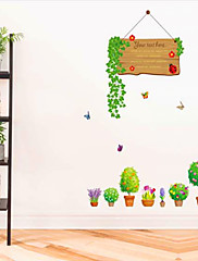 Romantika Samolepky na zeď Samolepky na stěnu Ozdobné samolepky na zeď,PVC Materiál Nastavitelná poloha Home dekoraceLepicí obraz na