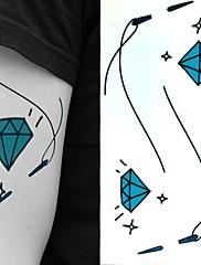 nit diamanty tetování samolepky dočasné tetování (1 ks)