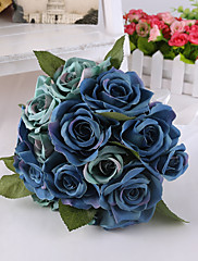 Magnifique bouquet de roses bleues