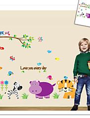 opice slon lev zoo zeď nálepka pro dětský pokoj zooyoo9046 dekorativní odstranitelné pvc Lepicí obraz na stěnu