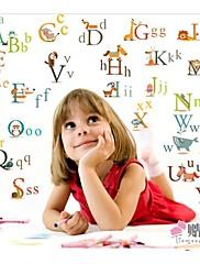 abeceda školka dekor samolepky na zeď pro děti pokoj zooyoo877 dekorativních odnímatelný pvc obrazy na stěnu