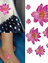 krásné elegantní růžový lotos tetování samolepky dočasné tetování (1 ks)