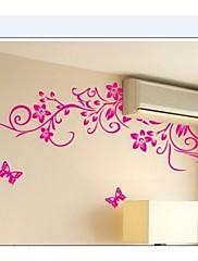 Klasický Černý květ vinné révy domácí dekorace stěna obtisk zooyoo954 dekorativní odstranitelné PVC stěna nálepka