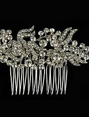 Ženy imitace drahokamu Slitina Přílba-Svatba Zvláštní příležitost Neformální Outdoor Hřebeny na vlasy Jeden díl