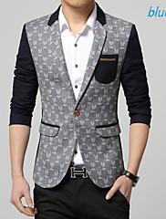 Pánské Bavlna/Polyester Jednobarevné Dlouhé Blejzr Dlouhý rukáv