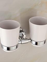 moderní elegantní mosaz chrom Držák dvojitý pohárek