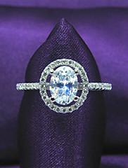 samice classic platinovaného 925 stříbro, zirkony mincovní stříbro angažovanost, kulatý tvar snubní prsten