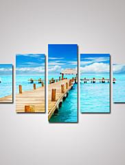 キャンバスセット 風景 クラシック トラディショナル,5枚 横長 版画 壁の装飾 For ホームデコレーション