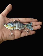 """1 個 ハードベイト / ルアー ハードベイト パープル 15.2 グラム/3/8 オンス,100 mm/4"""" インチ,硬質プラスチック 海釣り"""