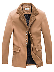 Pánské Bavlna / Polyester Jednobarevné Obyčejný Kabát Dlouhý rukáv