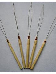dřevěná rukojeť tahání smyčky jehlu, prodloužení vlasů nástroje pro všechny druhy mikrokuličky / Micro kroužky