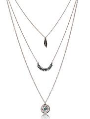 女性 チェーンネックレス ヴィンテージネックレス ラインストーン 銀メッキ 合金 フェザー ボヘミアスタイル ファッション ジュエリー パーティー カジュアル 1個