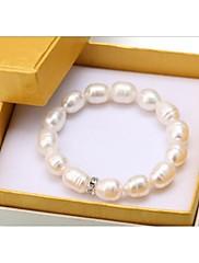 女性用 真珠 ブレスレット ビーズ 真珠