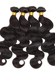 Lidské vlasy Vazby Brazilské vlasy Vlnité 3 kusy Vazby na vlasy