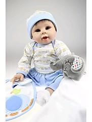 npkdoll生まれ変わった赤ちゃん人形柔らかいシリコーン22inchの55センチメートル磁気口美しいリアルなかわいい男の子の女の子のおもちゃブルーエレファント