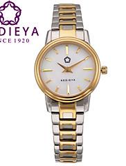 Dámské Módní hodinky Křemenný Japonské Quartz Voděodolné Nerez Kapela Zlatá Značka KEDIEYA