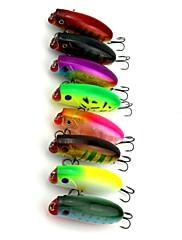 """8 個 ルアー ポッパー ランダム色 グラム/オンス,60 mm/2-3/8"""" インチ,硬質プラスチック 海釣り 川釣り ルアー釣り 一般的な釣り"""