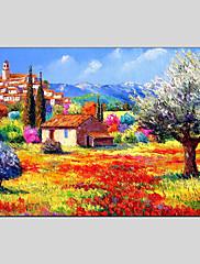 Ručno oslikana Apstraktni pejsažiModerna / Klasika / Realism / Rustikalni / Europska Style Jedna ploha Platno Hang oslikana uljanim bojama
