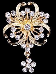 dámské crystal pearl jetel brož pro svatební party dekorace šátkem, jemné šperky