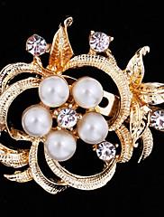 dámské květina brož pro svatební party dekorace šátek, jemné šperky, náhodné barvy