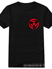 Inspirovaný Naruto Sasuke Uchiha Anime Cosplay kostýmy Cosplay T-shirt Tisk Czarny Krátké rukávy Trička