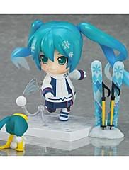 Vocaloid Snow Miku PVC One Size Anime Čísla akce Stavebnice Doll Toy