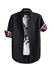 JamesEarl 男性 シャツカラー ロング シャツ&ブラウス 黒フェード - DA112049326