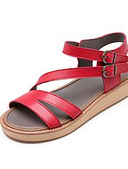 Ženske cipele-Sandale-Aktivnosti u prirodi / Formalne prilike-PU-Ravna potpetica-Udobne cipele / Salonke s remenčićem / Gladijatorke /