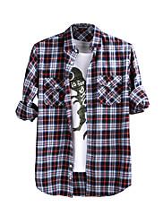 JamesEarl 男性 シャツカラー ロング シャツ&ブラウス シルバー - M61XC001401