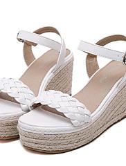 Ženske cipele-Sandale-Aktivnosti u prirodi / Ležerne prilike-Umjetna koža-Puna potpetica-Pune pete / Štikle-Bijela / Siva