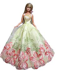 プリンセスライン ドレス ために バービー人形 ブラック / ピンク ドレス のために 女の子の 人形玩具