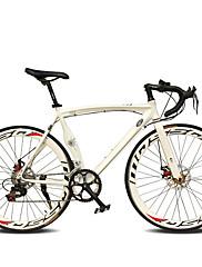 ロードバイク サイクリング 14スピード 26 inch/700CC 50ミリメートル 男性 婦人向け ユニセックス 大人 SHIMANO TX30 ダブルディスクブレーキ 普通 モノコック 普通 アルミニウム合金 レッド 黄色 白 ブルー