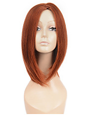 女性のための自然なミドルブラウンカラーの人気合成かつら