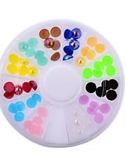 dámské módy barevné nail art kamínky dekorace uv gel telefon notebooků DIY nehtů nástrojů