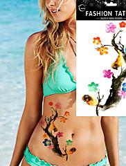 ボディアームアート一時的な入れ墨のステッカー療クリニーク防水花の鳥の水彩画を