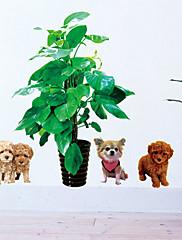 Zvířata / Botanický motiv / Zátiší / Módní / Volný čas Samolepky na zeď Samolepky na stěnu,PVC 70*50*0.1