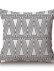 コットン/リネン 枕カバー,幾何学柄 / グラフィック コンテンポラリー / カジュアル