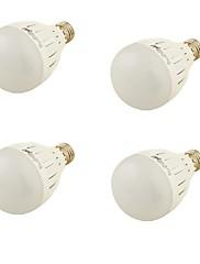 5W E26/E27 LEDボール型電球 A60(A19) 10 SMD 5730 460 lm 温白色 装飾用 AC 85-265 / 交流220から240 / AC 100-240 / AC 110-130 V 4個