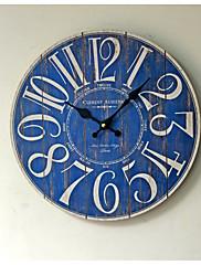 retro Ostatní Nástěnné hodiny,Kulatý Dřevo / Umělá hmota 35*35cm Vevnitř Hodiny