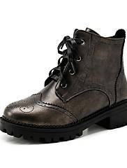 Boty-Koženka-Kombat boty Módní boty-Dámské--Šaty Běžné Party-Kačenka Block Heel