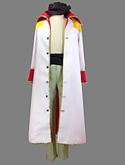 Inspirovaný One Piece Edward Newgate Anime Cosplay kostýmy Cosplay šaty Patchwork Biały Kabát Kalhoty Pásek Pro
