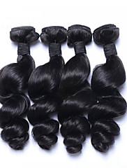 Lidské vlasy Vazby Malajské vlasy Volné vlny 6 měsíců 4 kusy Vazby na vlasy