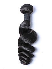 Lidské vlasy Vazby Malajské vlasy Volné vlny 6 měsíců Jeden díl Vazby na vlasy