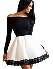 Women's New Off Shoulder Slim Sexy Party Dress