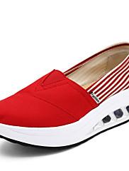 Tenisky-Plátno-Platformy Pohodlné Botky pro novorozence-Dámské-Modrá Červená Bílá Vícebarevná Burgundská Meloun Tmavě červená Námořnická