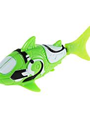 ロボ魚のサメのスタイル電子魚のおもちゃ - 白+緑(2×LR44)