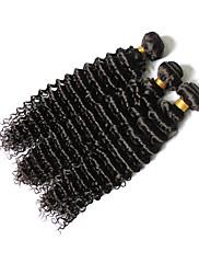 Lidské vlasy Vazby Brazilské vlasy Velké vlny 12 měsíců 3 kusy Vazby na vlasy