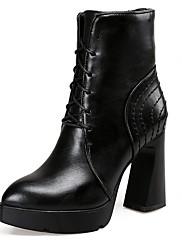 Boty-Syntetika Lakovaná kůže Koženka-Platformy Bootie Gladiátorské Módní boty Motorkářské boty Pracovní obuv Boty s kolečky Kombat boty