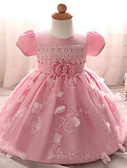 Dívka je Polyester Jdeme ven Jednobarevné Léto Šaty,Krátký rukáv
